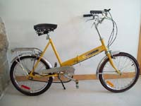 vintage folding bikes were always sold fully loaded